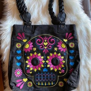 👜LOUNGEFLY Sugar Skull Shouider/Tote Bag 👜
